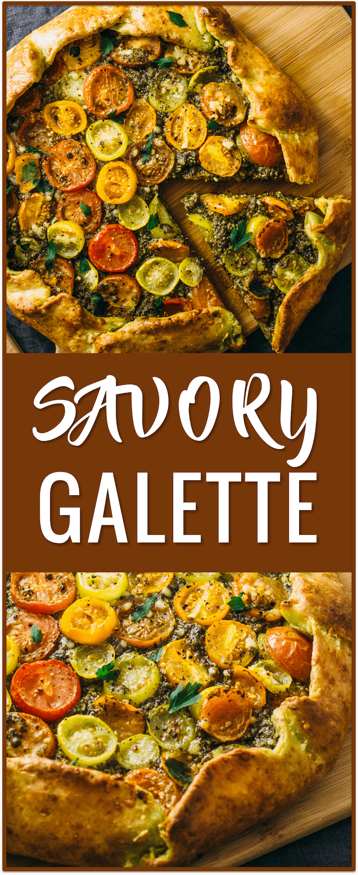 savory galette, pesto, heirloom tomatoes, parmesan crust, galette dough recipe, galette toppings, vegetarian, easy, simple, fast, recipe, dinner, lunch, dish, idea, comfort food, bread. BobsSpringBaking AD @BobsRedMill