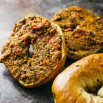 Sun-dried tomato tapenade bagels