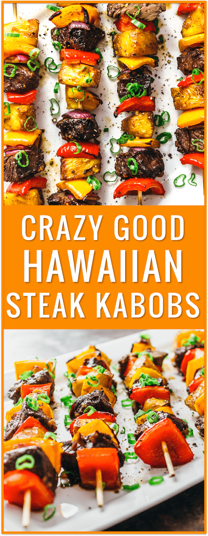 Crazy good Hawaiian steak kabobs, Hawaiian steak marinade, easy, recipe, grilling, broiling, baking, beef kabobs on the grill, beef kabob marinade, baked kabobs, ground beef kabobs, beef kabobs in the oven, broiled kabobs, with rice, marinated, sides, greek, teriyaki, healthy, shrimp