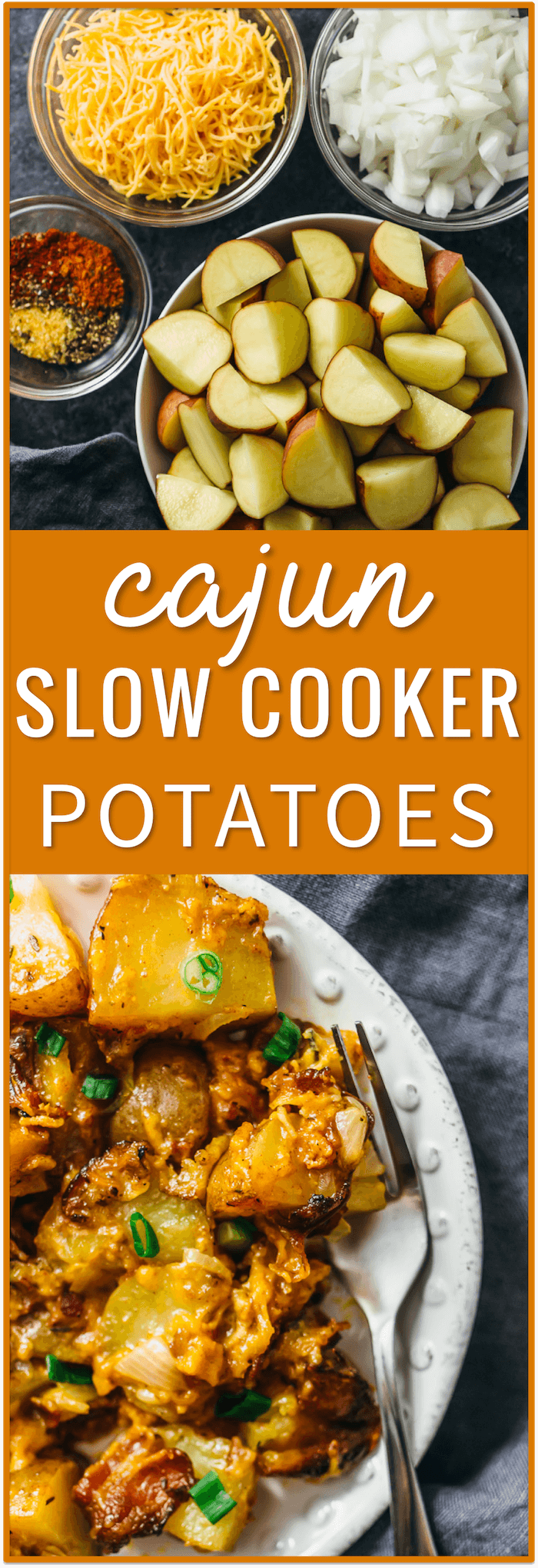 cajun slow cooker potatoes, bacon, cheddar cheese, dinner, lunch, breakfast, brunch, easy, recipe, cheesy potatoes, roasted potatoes, mashed potatoes, au gratin, red potatoes, soup, sausage, baked, crock pots, scalloped, cheese, and carrots