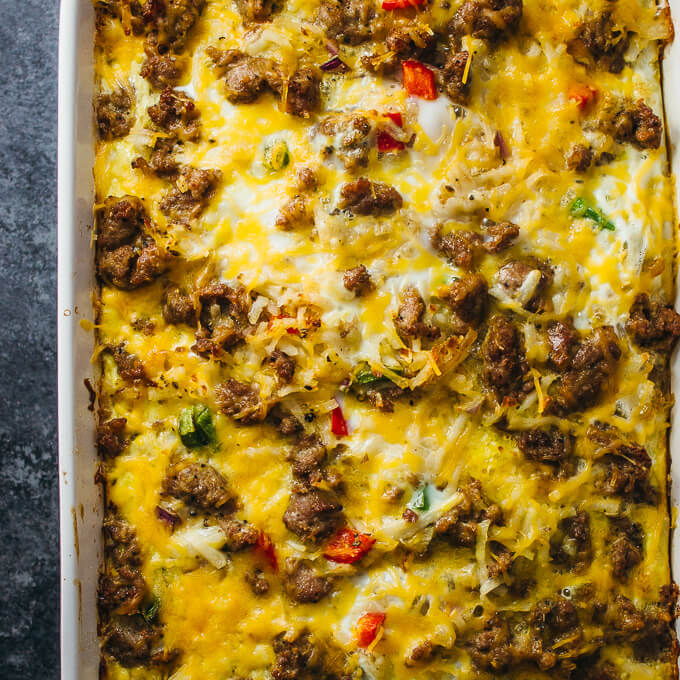 Easy Breakfast Casseroles: Easy Breakfast Casserole With Sausage And Hash Browns