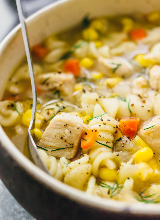 Instant Pot Chicken Noodle Soup Savory Tooth