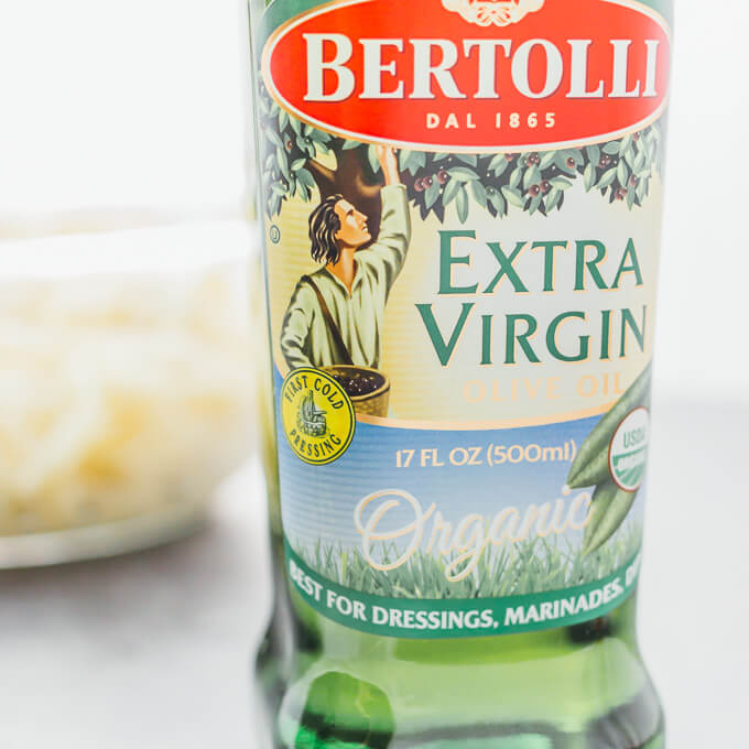 Bertolli olive oil bottle