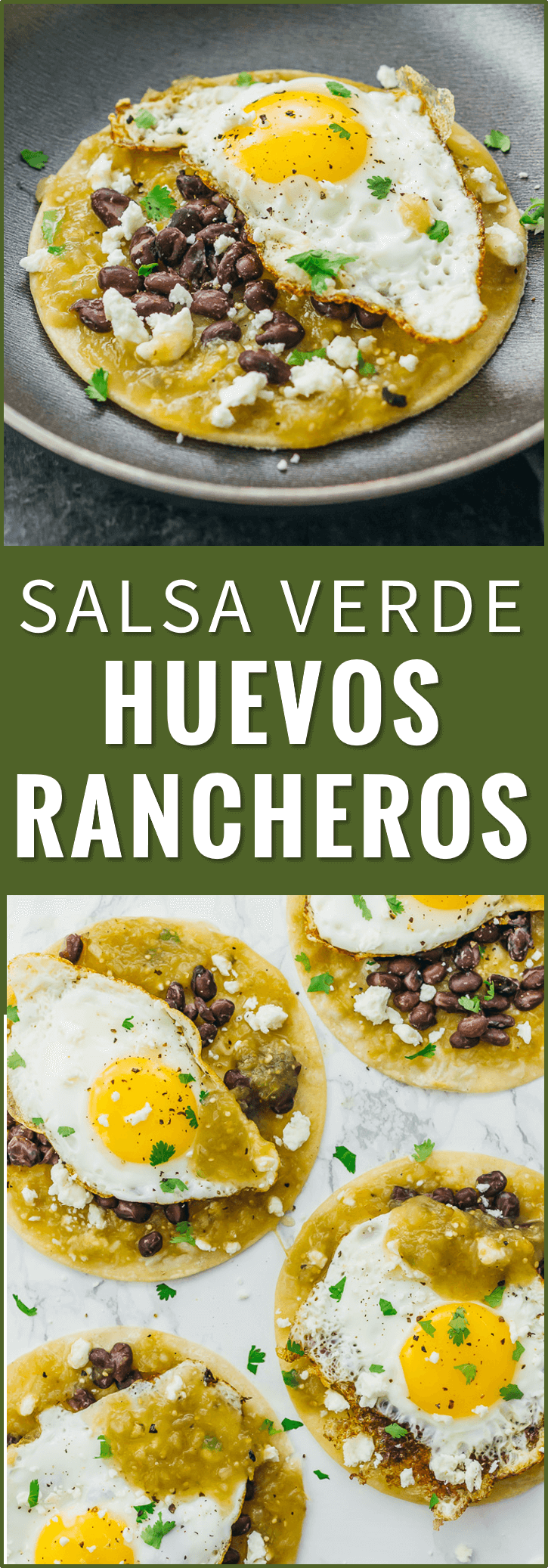 Huevos rancheros are a delicious and healthy Mexican breakfast with fried eggs, black beans, salsa verde, and cheese over corn tortillas. recipe, authentic, easy, sauce, breakfast, mexicanos, skillet, receta, tacos, vegetarian, tostadas, bowl, pioneer woman, paleo, traditional, low carb, baked, mexican eggs, skinnytaste, new mexico, for a crowd, cast iron, green chili, how to make, jamie oliver, best, sandwich, simple, tortilla, brunch, quick, omelet, dinner, rice, for one, classic