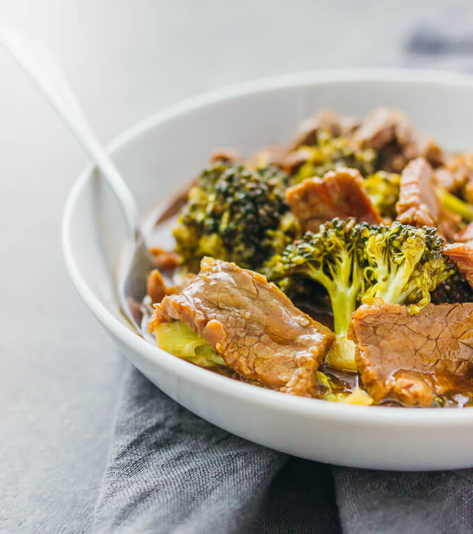 Check out the slow cooker version of my popular beef and broccoli recipe. Easier and tastes way better than takeout.