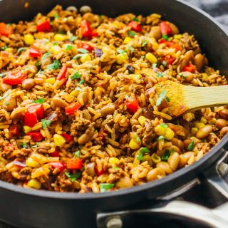 Southwest beef and rice skillet
