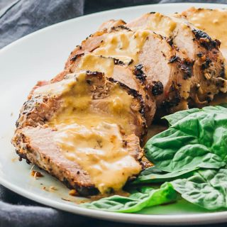 Roasted Pork Tenderloin with Creamy Mustard Sauce