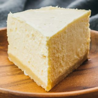 Single slice of keto pressure cooker cheesecake