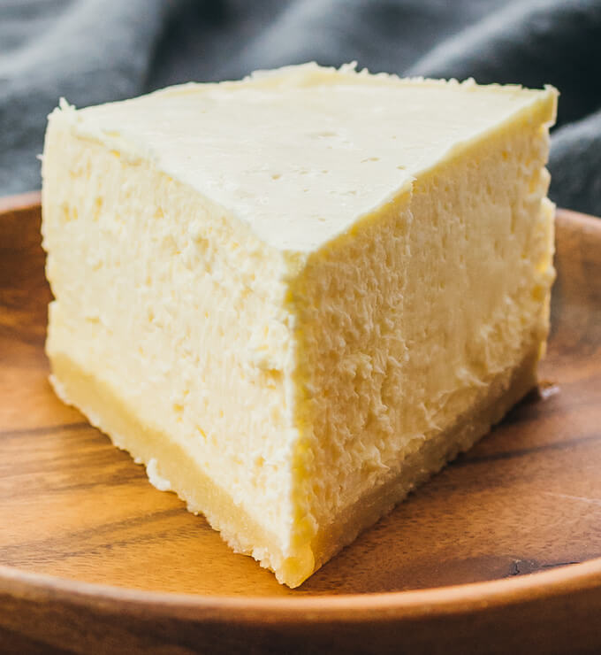 Single slice of keto pressure cooker cheesecake