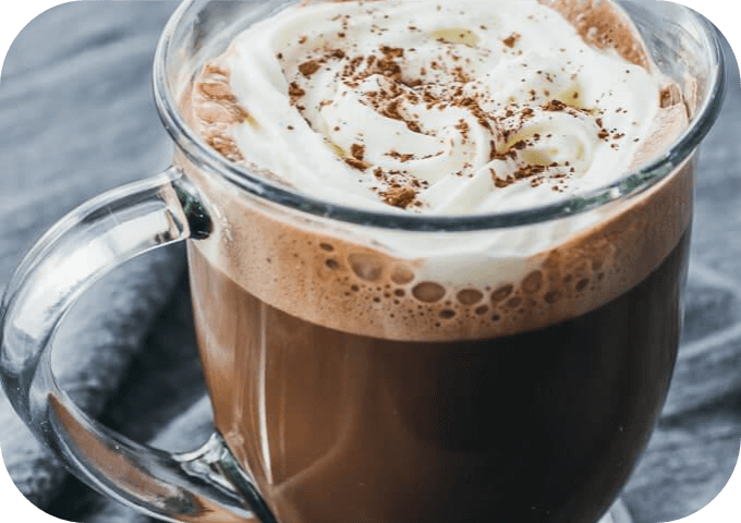 Low carb keto friendly hot chocolate drink