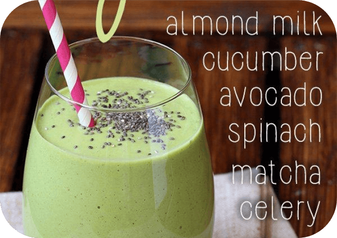 green low carb smoothie