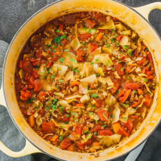 Unstuffed Cabbage Roll Soup (Low Carb)