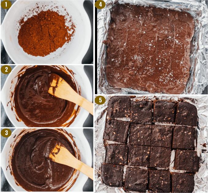 making low carb brownie batter