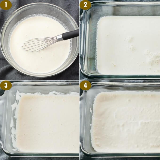 step by step showing how to make homemade keto friendly vanilla ice cream recipe