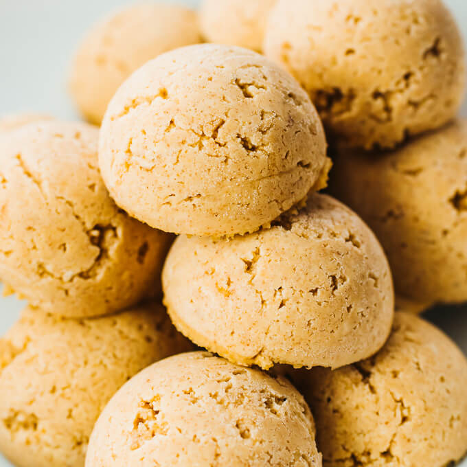 close up view of peanut butter fat bombs