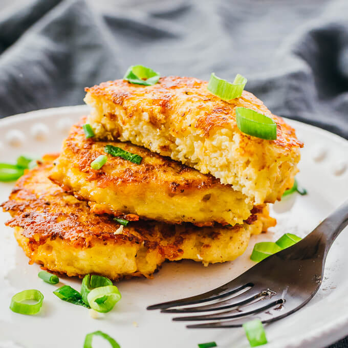 taking a bite out of gluten free cauliflower fritter