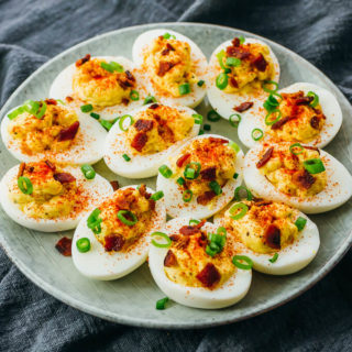 Instant Pot Hard Boiled Eggs (& Spicy Deviled Eggs!)
