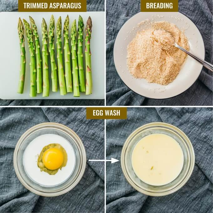 collage showing how to make low carb breading with almond flour and parmesan