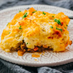 close up view of shepherd pie