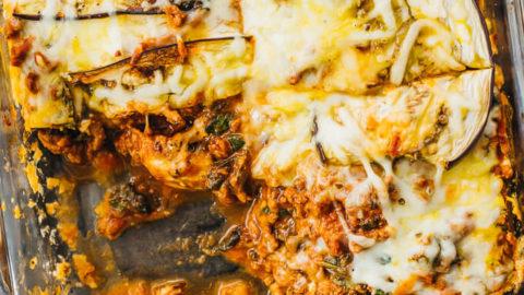 Eggplant Lasagna (Low Carb, Keto Lasagna Casserole)