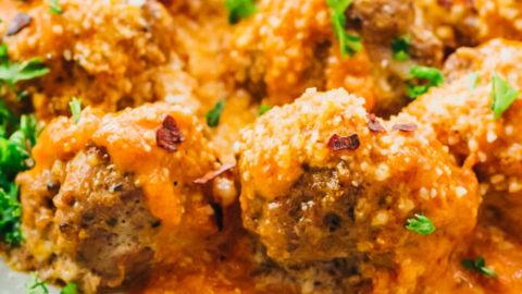 Keto Meatballs (Gluten Free, Low Carb)