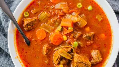 Instant Pot Vegetable Beef Soup (Low Carb)