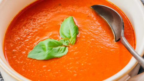 Tomato Basil Soup (Low Carb) - Savory Tooth