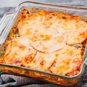 keto lasagna after baking