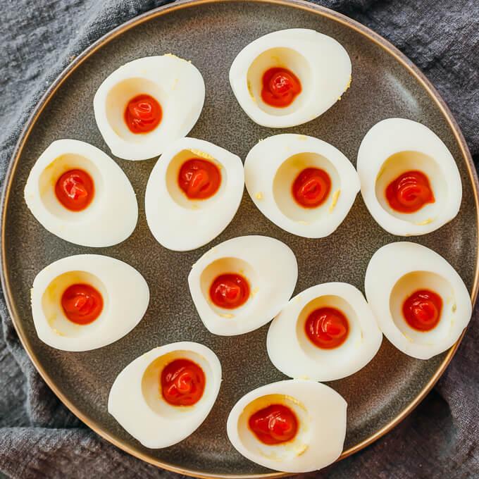 hot sauce on egg whites