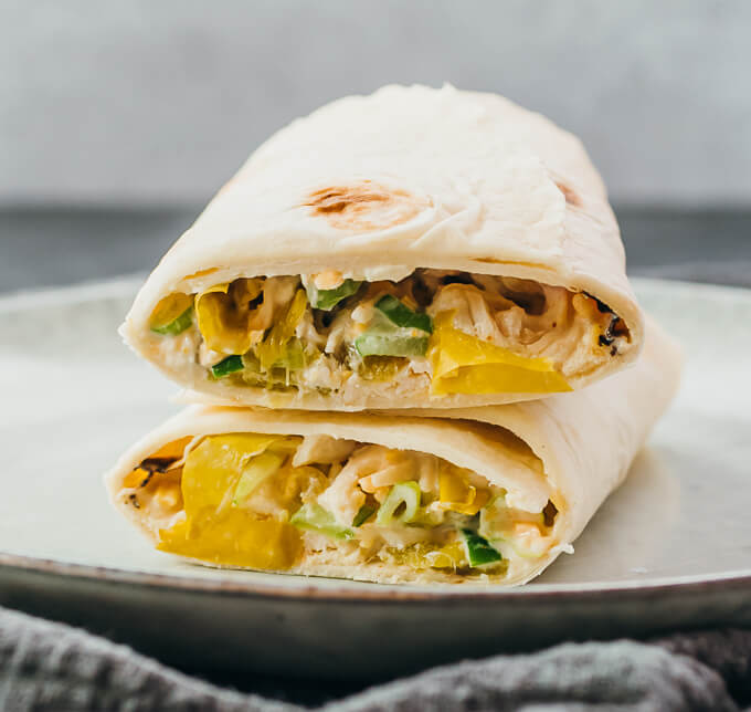wrapping chicken salad in low carb tortillas