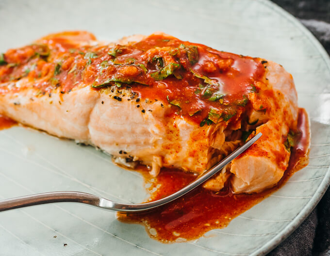Instant Pot Salmon With Chili Lime Sauce Savory Tooth