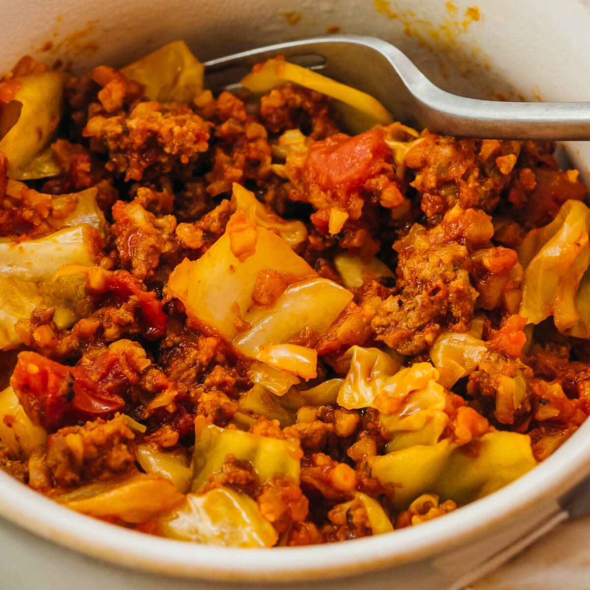 Keto Unstuffed Cabbage Rolls - Savory Tooth