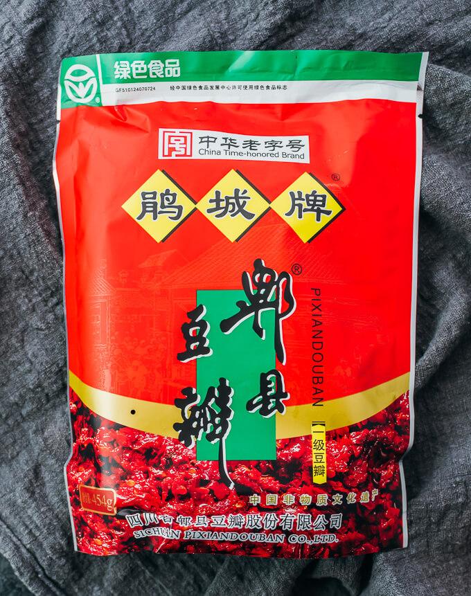 doubanjiang broad bean paste in packaging
