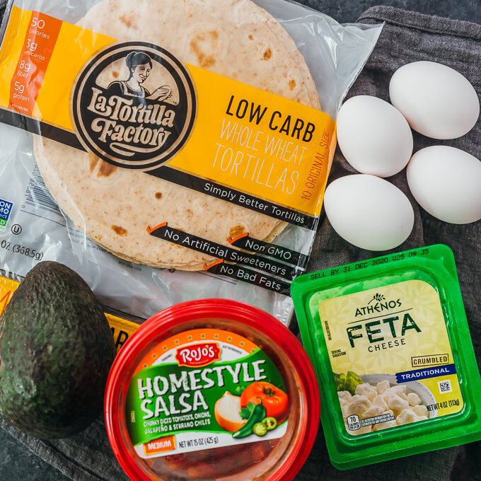 ingredients for making keto huevos rancheros