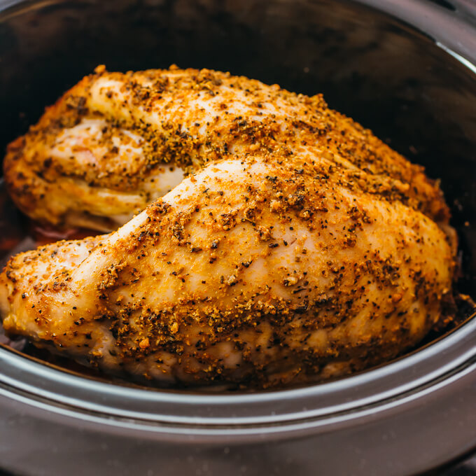 turkey breast after slow cooking