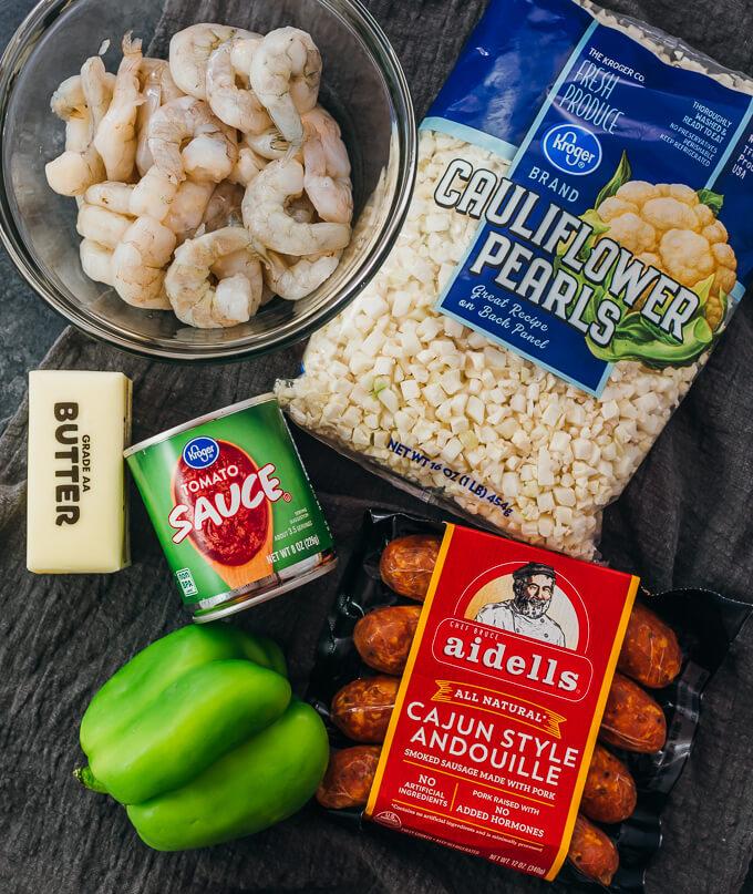 ingredients for making jambalaya