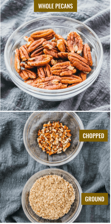 pecans that are whole vs chopped or ground